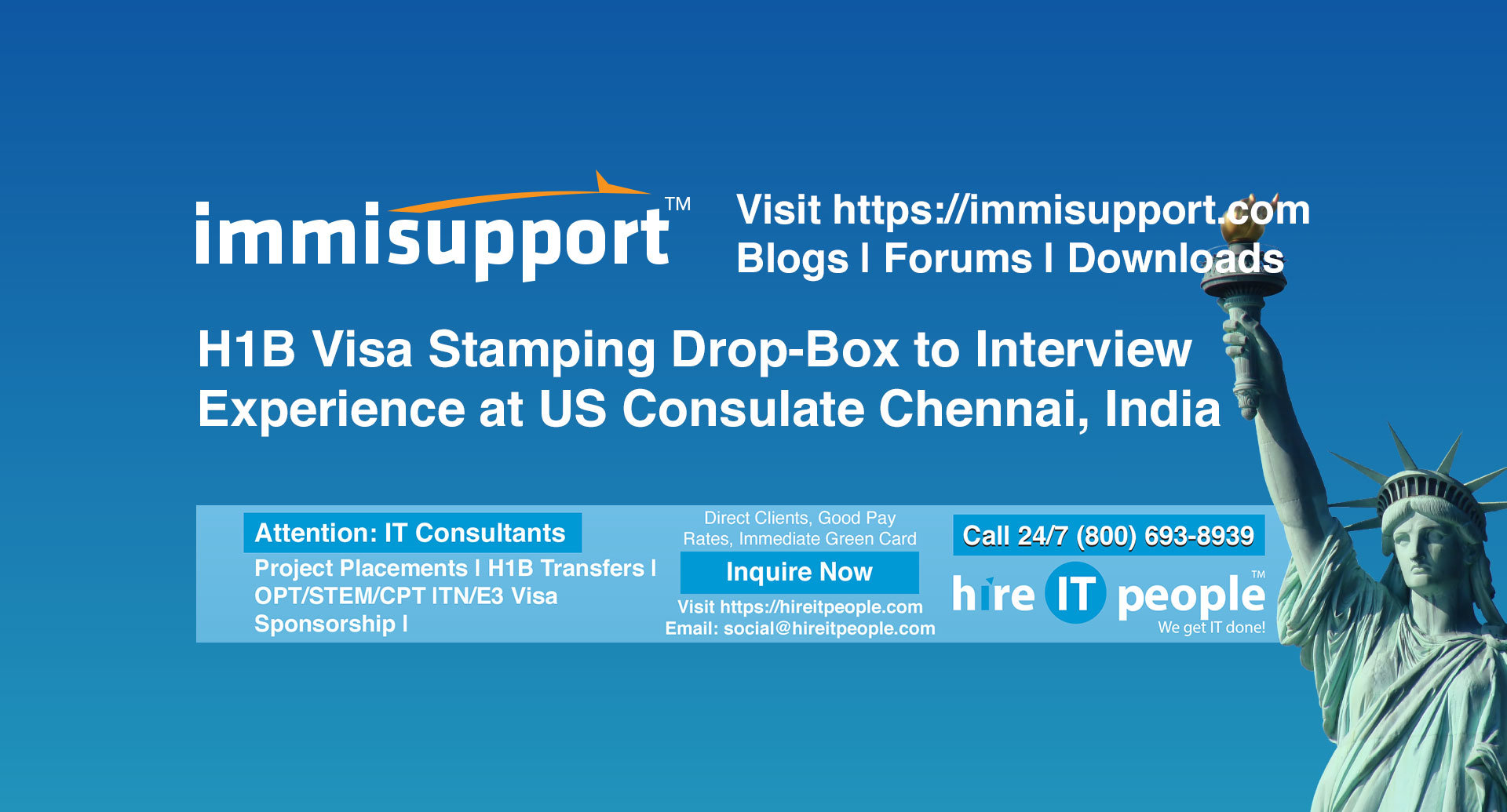 H1B Visa Stamping Drop-Box to Interview Experience at US Consulate Chennai, India