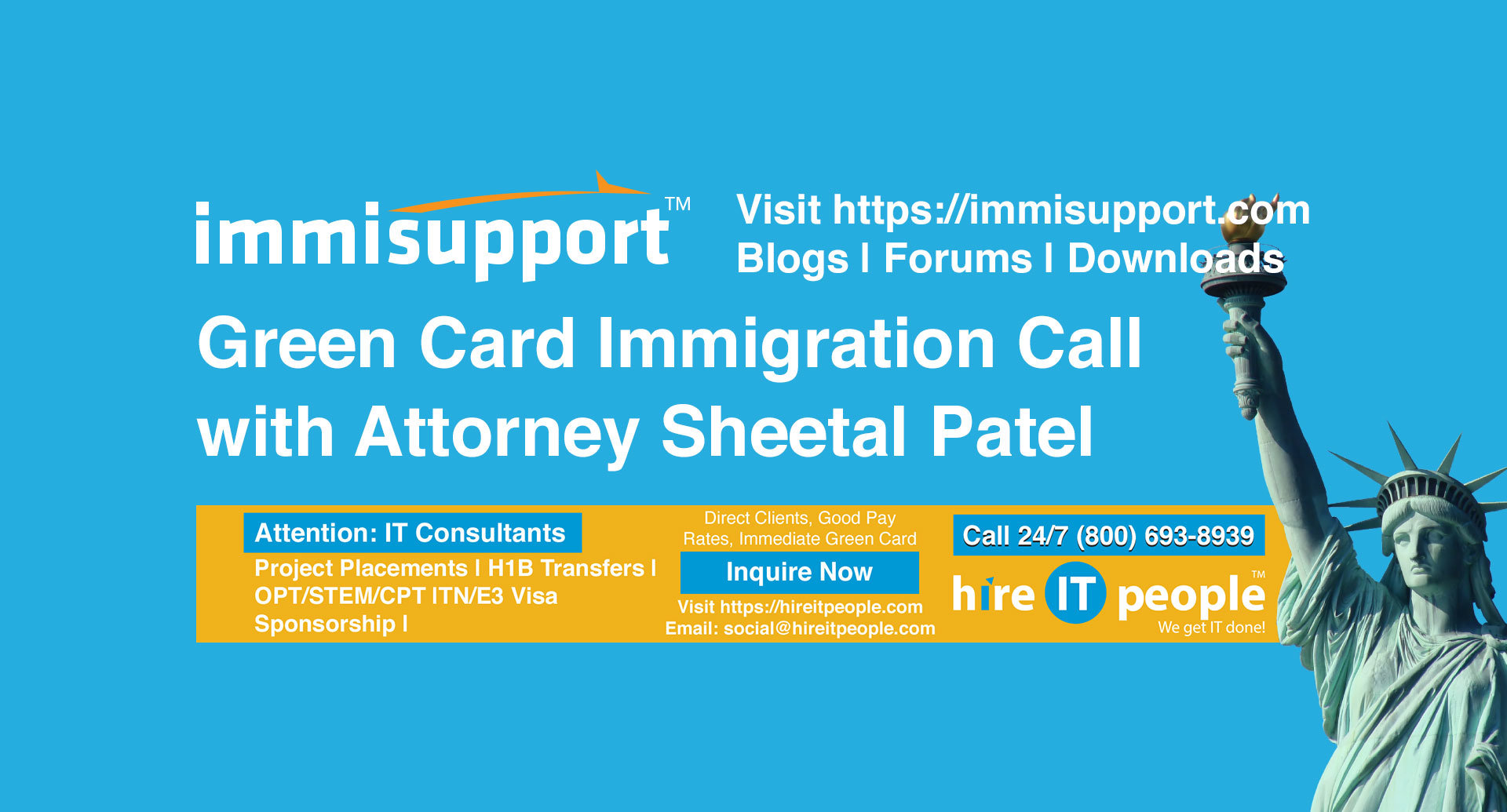 Green Card Immigration Call with Attorney Sheetal Patel