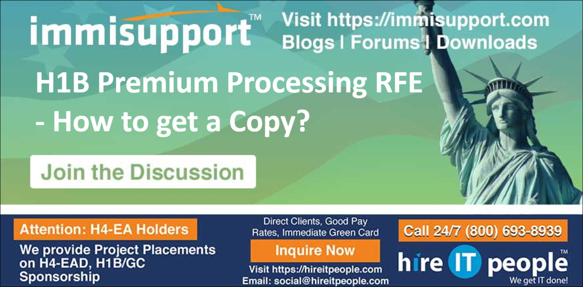 H1B Premium Processing RFE - How to get a Copy? - H1B Visa