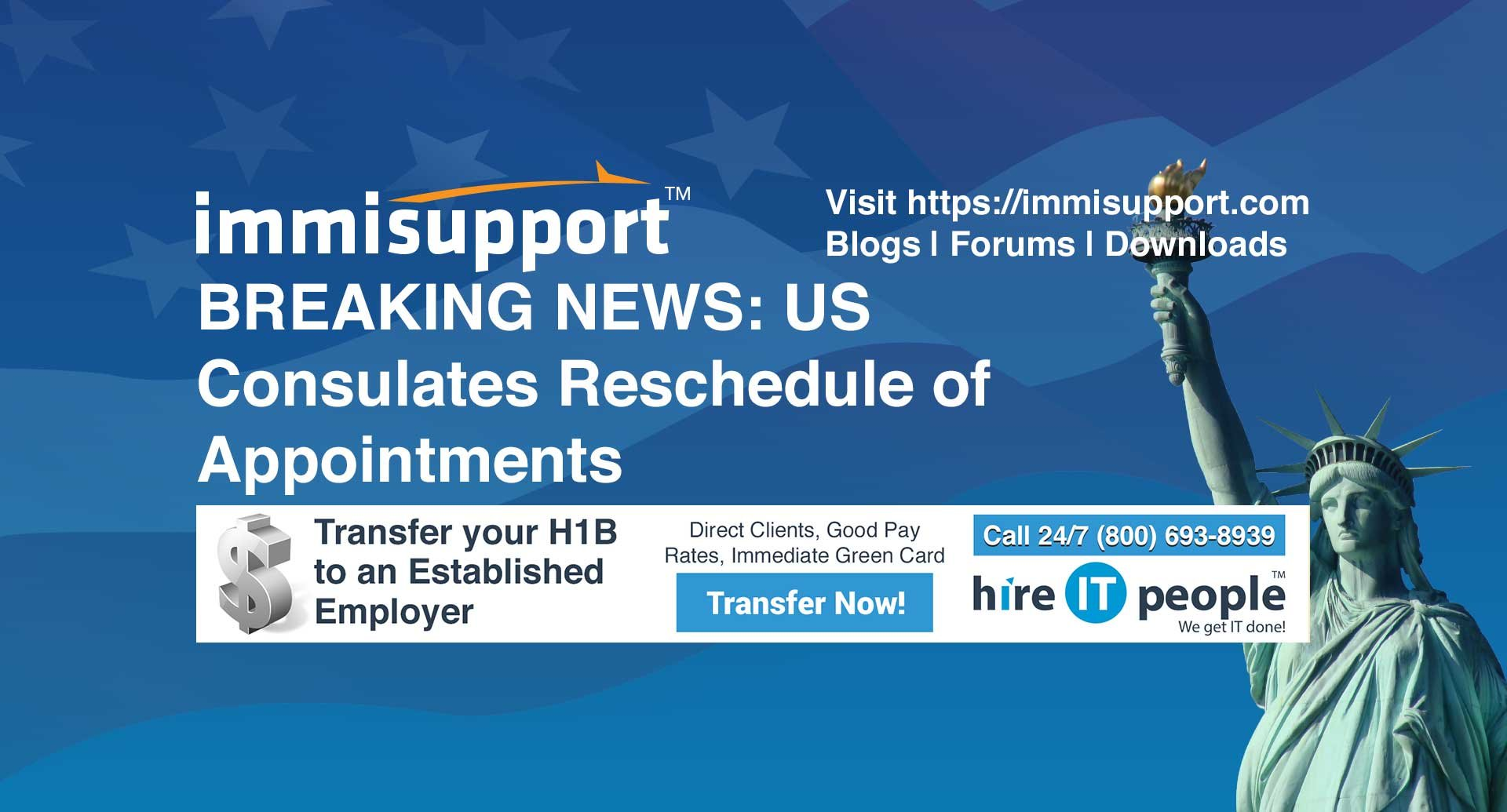 BREAKING NEWS: US Consulates Reschedule of Appointments